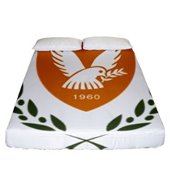 Coat Of Arms Of Cyprus Fitted Sheet (california King Size)