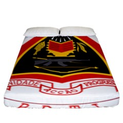 Coat Of Arms Of East Timor Fitted Sheet (king Size)