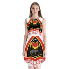 Coat Of Arms Of East Timor Sleeveless Chiffon Dress