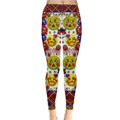 Smile And The Whole World Smiles  On Leggings