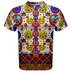 Smile And The Whole World Smiles  On Men s Cotton Tee