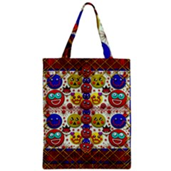 Smile And The Whole World Smiles  On Zipper Classic Tote Bag