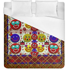 Smile And The Whole World Smiles  On Duvet Cover (king Size)