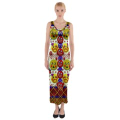 Smile And The Whole World Smiles  On Fitted Maxi Dress