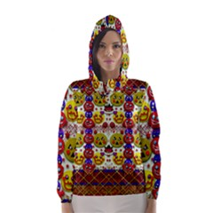 Smile And The Whole World Smiles  On Hooded Wind Breaker (women)
