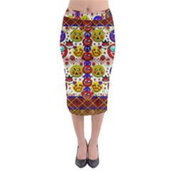 Smile And The Whole World Smiles  On Midi Pencil Skirt