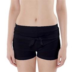 Simple black Boyleg Bikini Wrap Bottoms
