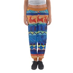 Holmes Christmas Jumper in Crayon Abstract Women s Jogger Sweatpants