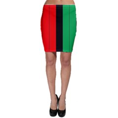 Kwanzaa Colors African American Red Black Green  Bodycon Skirt
