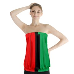 Kwanzaa Colors African American Red Black Green  Strapless Top