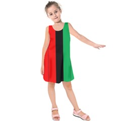 Kwanzaa Colors African American Red Black Green  Kids  Sleeveless Dress