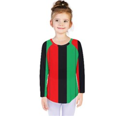 Kwanzaa Colors African American Red Black Green  Kids  Long Sleeve Tee
