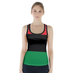 Pan African Unia Flag Colors Red Black Green Horizontal Stripes Racer Back Sports Top
