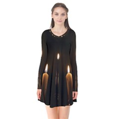 Hanukkah Chanukah Menorah Candles Candlelight Jewish Festival Of Lights Flare Dress