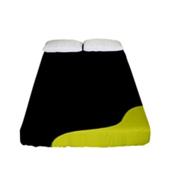 Black And Yellow Fitted Sheet (full/ Double Size)