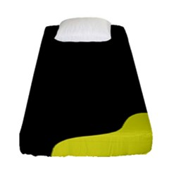 Black And Yellow Fitted Sheet (single Size)