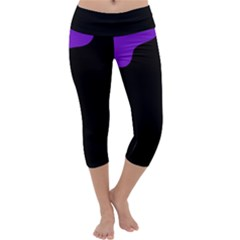 Purple and black Capri Yoga Leggings