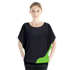 Black And Green Blouse