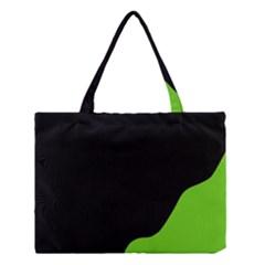 Black And Green Medium Tote Bag