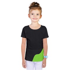 Black And Green Kids  One Piece Tee