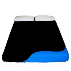 Blue And Black Fitted Sheet (king Size)