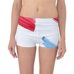 Tricolor Banner Flag, Red White Blue Boyleg Bikini Bottoms