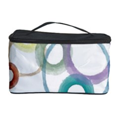 Rainbow Color Circles, Watercolor   Aquarel Painting Cosmetic Storage Case