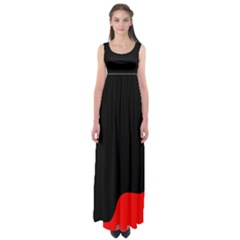 Black and red Empire Waist Maxi Dress