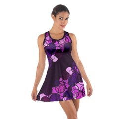 Purple bubbles Cotton Racerback Dress