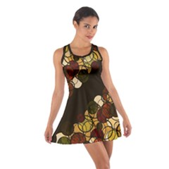 Autumn bubbles Cotton Racerback Dress
