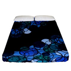 Blue Bubbles Fitted Sheet (california King Size)