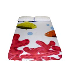 Corals And Fish Fitted Sheet (full/ Double Size)