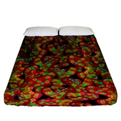 Red Corals Fitted Sheet (queen Size)