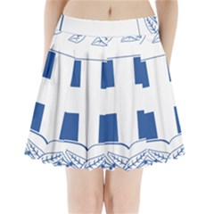 Coat Of Arms Of Greece Pleated Mini Skirt