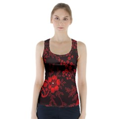 Small Red Roses Racer Back Sports Top