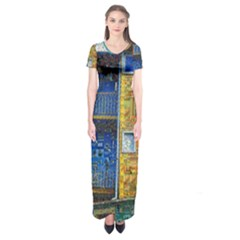 Buenos Aires Travel Short Sleeve Maxi Dress