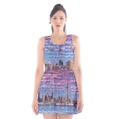 Auckland Travel Scoop Neck Skater Dress
