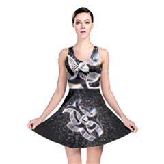Microscopic Atoms Reversible Skater Dress