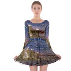 Dubai Long Sleeve Skater Dress
