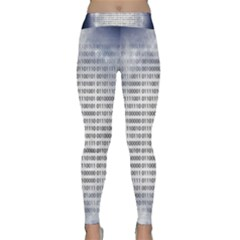 Binary Computer Technology Code Classic Yoga Leggings