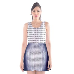 Binary Computer Technology Code Scoop Neck Skater Dress