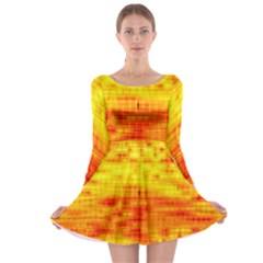 Background Image Abstract Design Long Sleeve Skater Dress