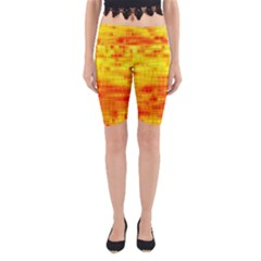 Background Image Abstract Design Yoga Cropped Leggings