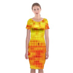 Background Image Abstract Design Classic Short Sleeve Midi Dress