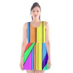 More Color Abstract Pattern Scoop Neck Skater Dress