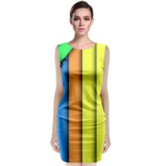 More Color Abstract Pattern Classic Sleeveless Midi Dress
