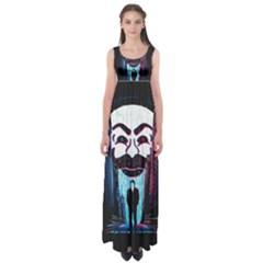 Mr Robot Empire Waist Maxi Dress