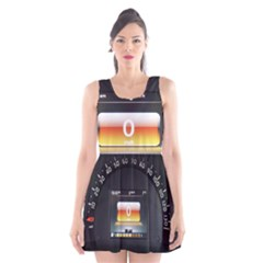 Interior Car Vehicle Auto Scoop Neck Skater Dress