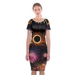 New Year S Day New Year S Eve 2017 Classic Short Sleeve Midi Dress