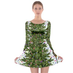New Year S Eve New Year S Day Long Sleeve Skater Dress
